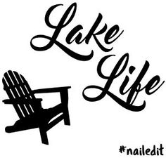 """Free Silhouette cut file for """"Lake Life #nailedit"""" stencil plus tutorial on how…"""