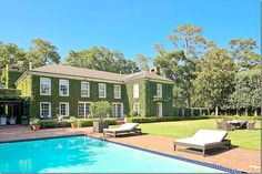 Designer Carol Glasser Home in River Oaks Houston Love the ivy and simple pool surround
