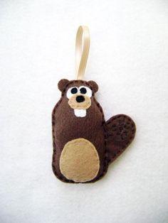 Felt Ornament  Alastair the Beaver by RedMarionette on Etsy