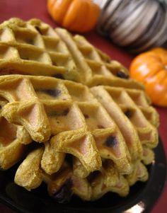 Healthy Chocolate Chip Pumpkin Waffles