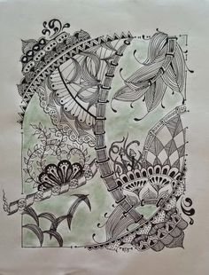 Her Sketches: Zentangle Abstract