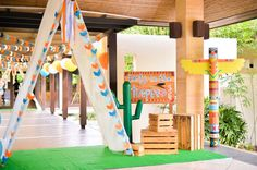 Teepee party entrance from a Boho Tribal 1st Birthday Party on Kara's Party Ideas | KarasPartyIdeas.com (34)