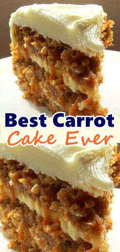 Best Carrot Cake Ever A most and flavorful recipe that makes a large quantity of cake. I have been hounded to make this cake time and time again. Don't forget to Pin this so it will be SAVED to your timeline! Skinny Recipes, Ww Recipes, Cake Recipes, Dessert Recipes, Cooking Recipes, Recipies, Carrot Recipes, Just Desserts, Delicious Desserts