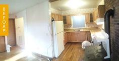 Before & After: Goodbye, Wood-Fired Stove! Hello, Dream Kitchen — Reader Kitchen Remodel