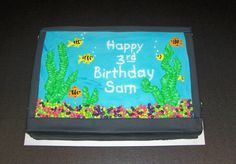 Aquarium Cake | Aquarium cake — Children's Birthday Cakes