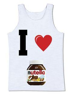 camiseta i love nutella coração eu amo nutella nutella camiseta divertida