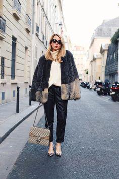 Fur & Gucci pour un look chic et parisien. // www.leasyluxe.com #gucci #dyonisos #leasyluxe