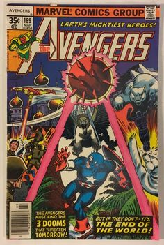 The Avengers #169 - VF- 7.5 Condition - 35¢ Marvel Comics Bronze Age 1978