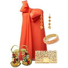 Orange and gold by missyalexandra on Polyvore