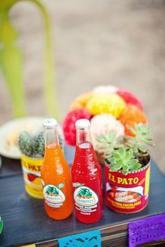Easy and cheap way to decorate a Mexican themed celebration.