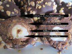 rezetas de carmen: Bombones de chocolate y avellana tipo ferrero rocher