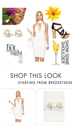 """""""Mimosas and Messy Hair"""" by amiclubwear on Polyvore featuring platformheels, bodycondress, diamondearrings and amiclubwear"""
