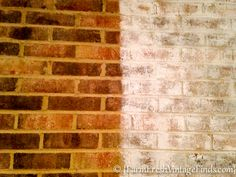 Best Free of Charge orange Brick Fireplace Ideas I have been wanting to whitewash brick for a really long time. Problem is…. Fireplace Update, Brick Fireplace Makeover, Fireplace Remodel, Fireplace Ideas, White Wash Brick Fireplace, Paint Fireplace, Reface Brick Fireplace, White Wash Brick Exterior, Painted Brick Exteriors
