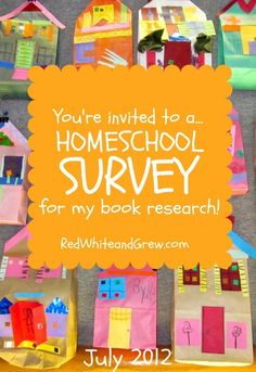 YOUR homeschool story could help other parents. If you teach your own while juggling work, caregiving, etc., please participate in this survey.
