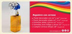 Arreglo con #globos #regadera #cerveza