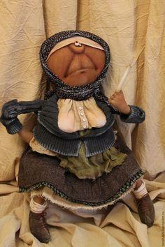 Купить СИрьёзная женщина... - разноцветный, текстильная кукла, ароматизированная кукла, интерьерная кукла, деревенский стиль