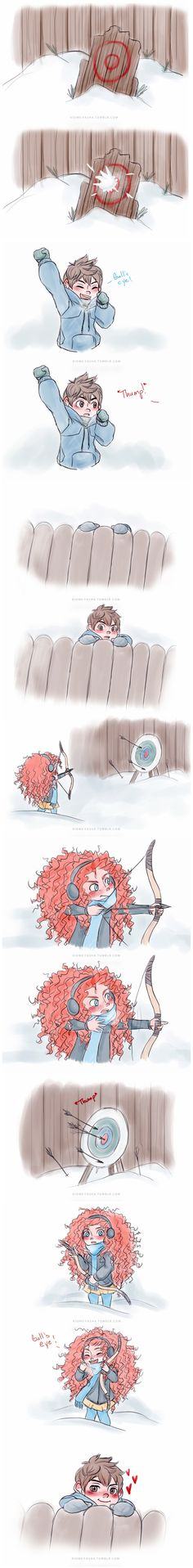 I don't ship Jack and Merida at all but this is cute.