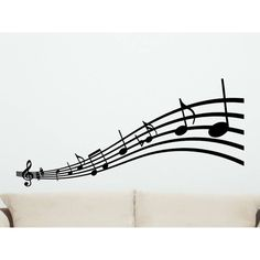 Musical Notes Wall Decal Style 2 Wall Decor Music Notes Decorations ($15) ❤ liked on Polyvore featuring home, home decor, wall art, black, home & living, home décor, wall decals & murals, wall décor, vinyl wall murals and wall stickers