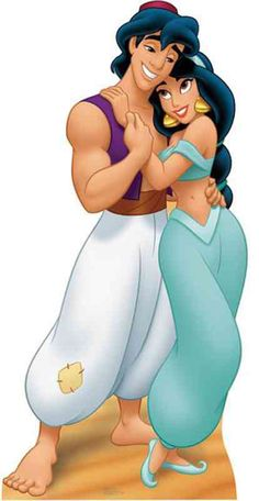 Aladdin and Jasmine Lifesize Standup