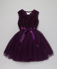 Another great find on #zulily! Purple Ruby Rosette Tutu Dress - Infant & Toddler by Designer Kidz #zulilyfinds