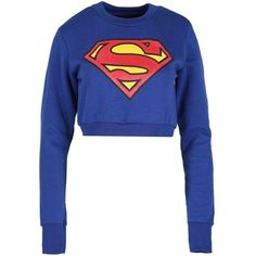 Be Jealous Women's Batman Superman Sweatshirts Super Hero Pullover... ($13) ❤ liked on Polyvore featuring tops, hoodies, sweatshirts, pullover top, white cropped sweatshirt, superman pullover, sweater pullover and white pullover #pulloveroutfit