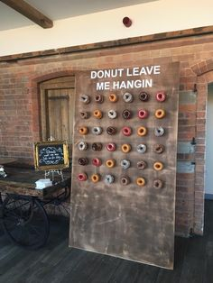 Our wedding doughnut stand Krispy Kreme donut wall Wedding With Kids, Our Wedding, Wedding Bells, Wedding Games, Wedding Tips, Doughnut Stand, Krispy Kreme, Wedding Entertainment, Vintage Party