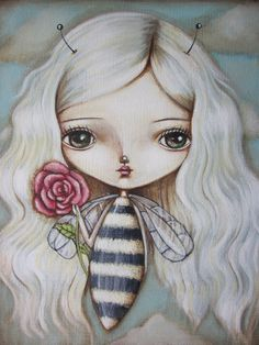 Bee Girl  Fair Rosamund Art by Lauren Saxton