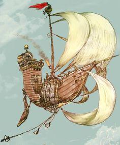 Sky Ship- Edge Chronicles