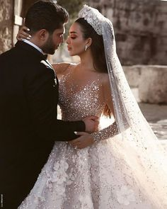 57b530112a Luxuriours A Line Royal Wedding Dresses Dubai Saudi Arabic Modest Long  Sleeves Bling Sequins Beaded Appliqued Formal Church Bridal Gowns