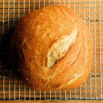 Artisan Bread Round II, Partially Whole Wheat and Cooked in A Pot