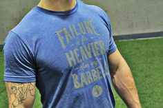 You're sore, tired and your hands are bleeding from your last set. You don't want to pick up that bar anymore today but you will, you have to.... Because failure is far heavier than any barbell.   www.jekyllhydeapparel.com