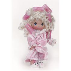 precious moments dolls   Blonde Girl in Curlers - Precious Moments 9in Doll, 3505   Flossie's ...