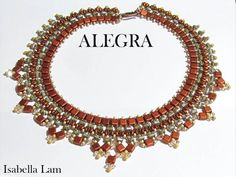 ALEGRA SuperDuo Rulla and Czech Mates Beadwork Necklace Pdf tutorial instructions for personal use only $13.00