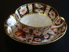 Vintage Aynsley IMARI Scalloped Tea Cup and Saucer