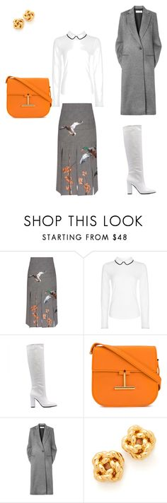 """""""white boots"""" by matriniente ❤ liked on Polyvore featuring Stella Jean, Hobbs, Tom Ford, Victoria Beckham and Tory Burch"""