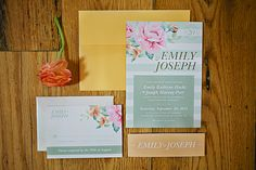 colorful wedding invitations | Brooke Courtney Photography | Glamour & Grace
