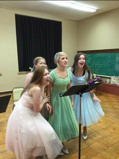 Our Wonderettes! Alyssa Collett, Grace Beumler, Rogan Luse, and Josie Kasik. Yes, folks, they are that excited about this show! www.lambtheatre.com for more