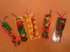 Doodle, lamineren en oogjes Bookmarks, School, Group, Names, Craft Work, Schools, Book Markers