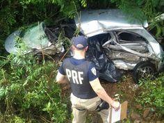 Um acidente de trânsito matou pai e bebê em Imbituva, na região central do Paraná, na tarde do d...