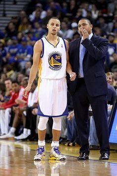 Golden State Warriors head coach Mark Jackson, Stephen Curry