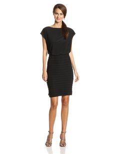Sleeveless Banded Blouson Dress by Adrianna Papell