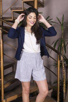 #debrummodas #verão #coleção #shorts #alfaiataria #listras #stripes #blazer #modafeminina #moda #style #estilo #fashion