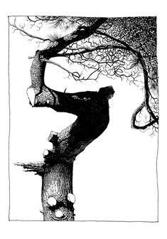 The Art of Jamie Hewlett Black And White Tree, Black And White Drawing, Ink Illustrations, Illustration Art, Jamie Hewlett Art, Knight Art, Art Graphique, Gravure, Ink Art