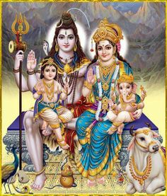 Kartikeya, Shiva, Parvati, Ganesh and Nandi                                                                                                                                                                                 More