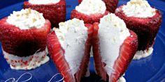 Cheesecake stuffed strawberries!