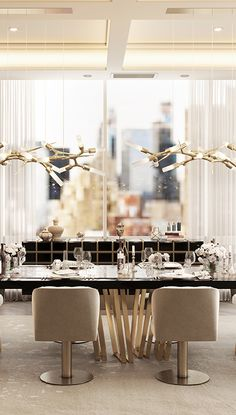 Luxury Dining Room, Dining Room Design, Luxury Living, Modern Console Tables, Modern Dining Chairs, Dining Tables, Luxury Interior Design, Interior Architecture, Modern House Design
