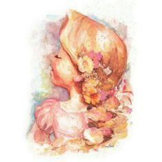#repunzel #flowers #gorgeous #hair / #drawing