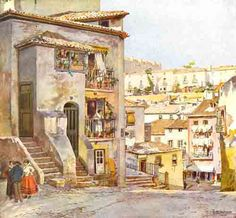 Portugal, Beyond Beauty, Great Paintings, Home Art, Urban, Black And White, House Styles, City, Watercolors