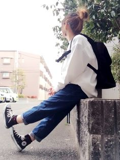 Korean Fashion Trends you can Steal – Designer Fashion Tips Korean Girl Fashion, Korean Fashion Trends, Indie Fashion, Japanese Fashion, Asian Fashion, Look Fashion, Fashion Outfits, Fashion Photo, Moda Outfits