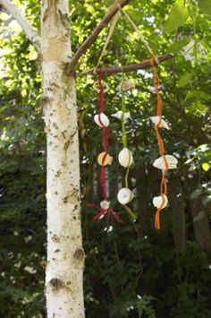 Hang this pretty wind chime and listen to the gentle clink of shells in the breeze.